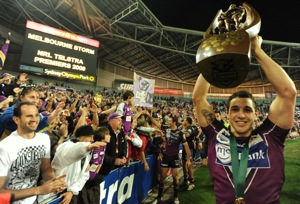 NRL Grand Final against the Parramatta Eels at ANZ Stadium, Sunday, Oct. 4, 2009. The Storm won the 2009 NRL premiership with a 23-16 win over the Eels. AAP Image Dean Lewins.